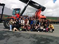 Ambrogio Intermodal recibe a 48 alumnos de Logística y Transporte de Cámara Bilbao (EUCCB)