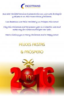 FELICES FIESTAS Y PRÓSPERO AÑO NUEVO 2016 / MERRY CHRISTMAS AND HAPPY NEW YEAR 2016