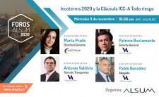 Foro ALSUM sobre las reglas Incoterms 2020 y la Cláusula ICC-A Todo riesgo, con la Dra. Marta Prado Larburu