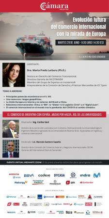 La Dra. Marta Prado Larburu, disertante en un webinar sobre la